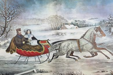 Currier & Ives, Road Winter
