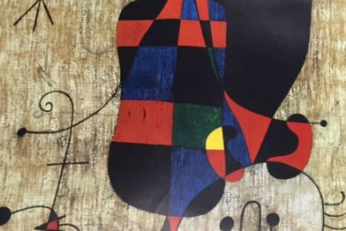 Joan Miro, People & Dog in the Sun